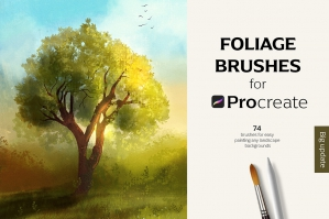 74 Foliage Brushes for Procreate