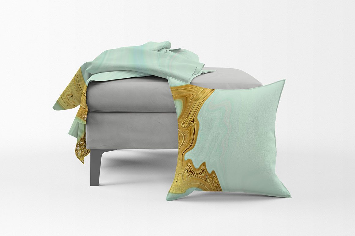 Abstract Gold & Turquoise Backgrounds 2