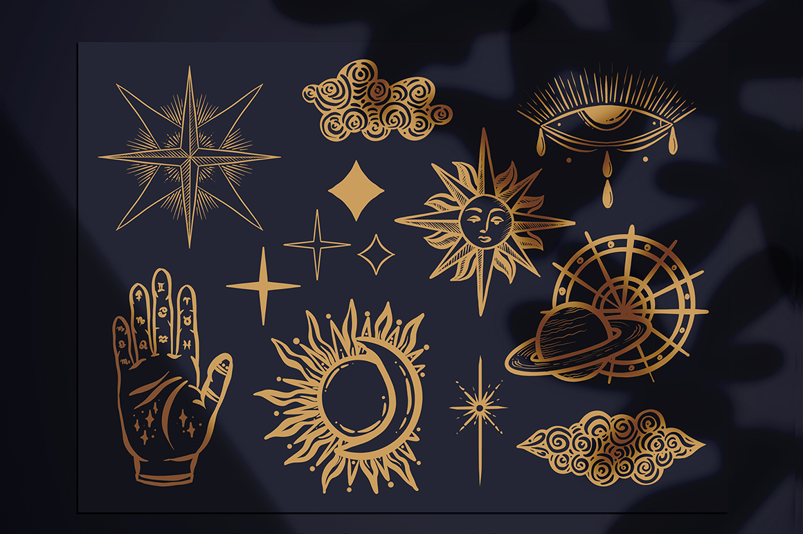 Astrology and Zodiac Signs Procreate Stamps Set