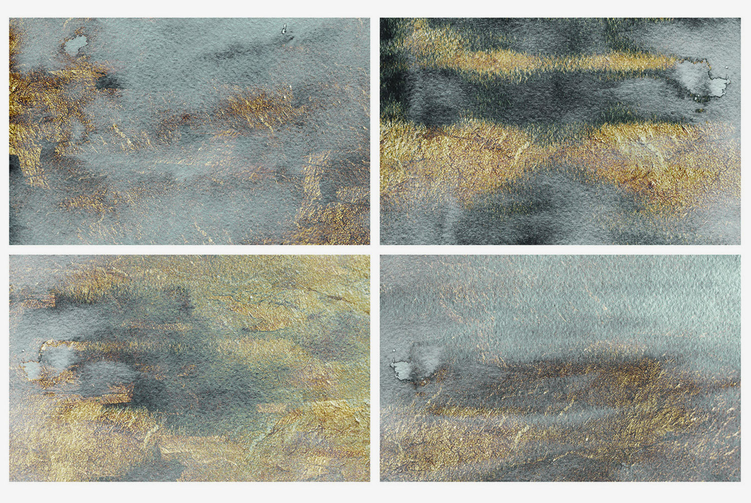 Black & Gold Watercolor Backgrounds