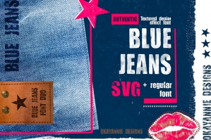 Blue Jeans SVG and Regular Font