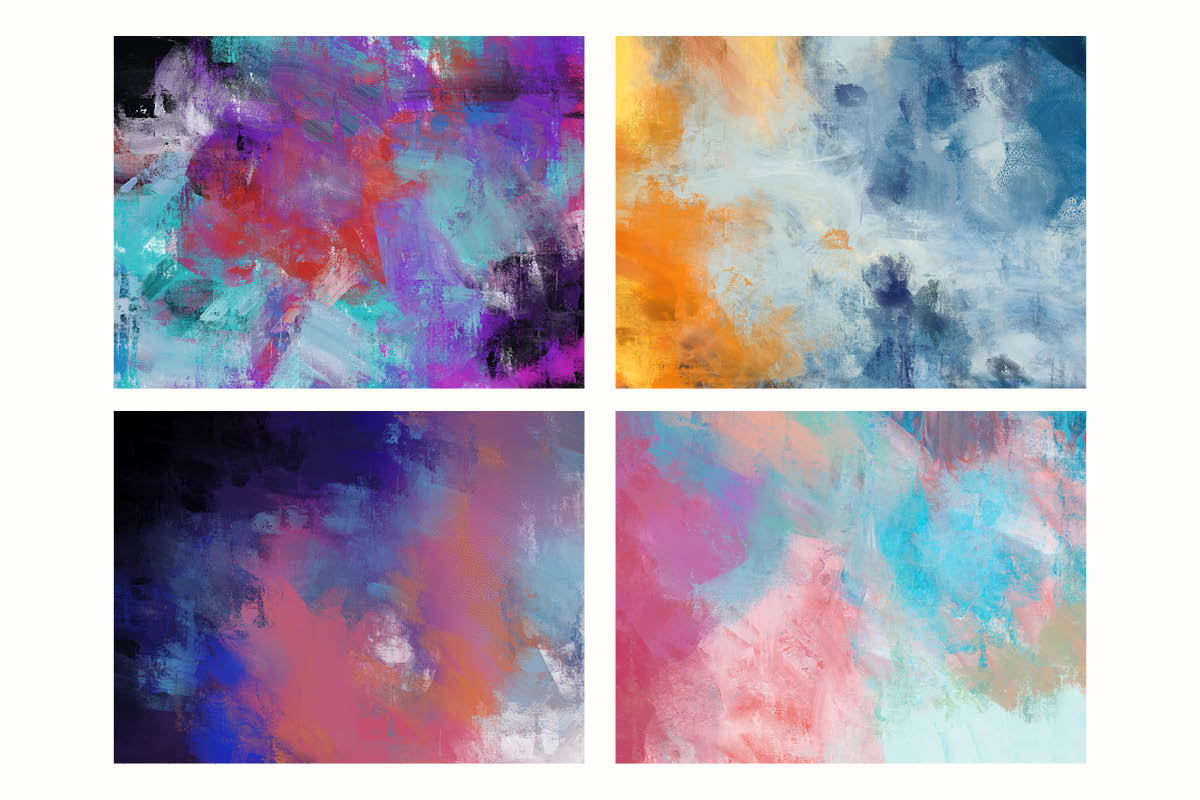 Bright Abstract Oil Paint Textures