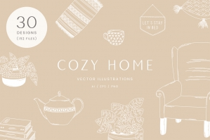 Cozy Home Vector Illustrations