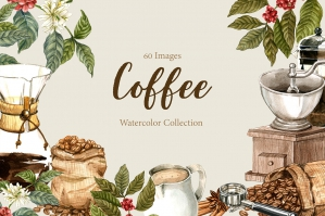 Drip Coffee Watercolor Set