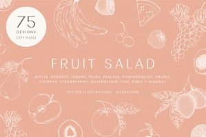Fruit Salad Vector Illustrations