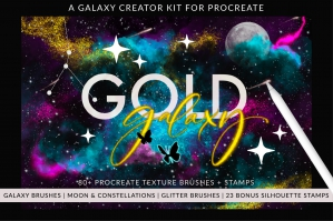 Galaxy Creator Kit for Procreate