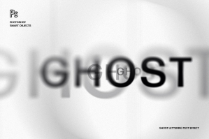 Ghost Lettering Text Effect