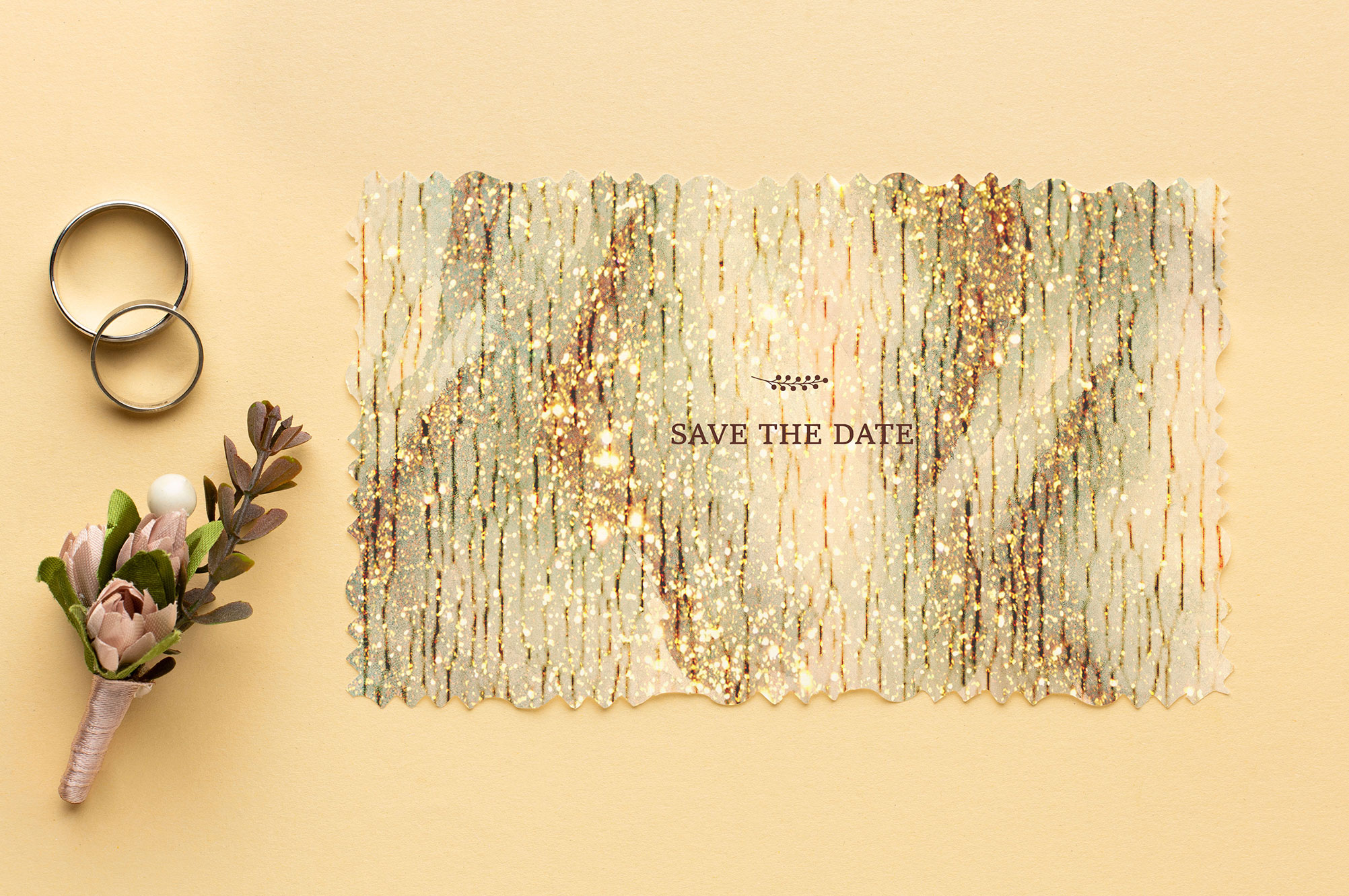 Gold Glitter Watercolor Textures