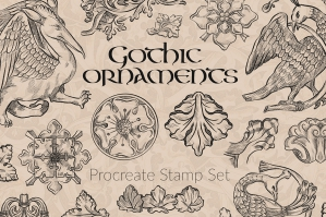 Gothic Symbols and Ornaments Procreate Brushes