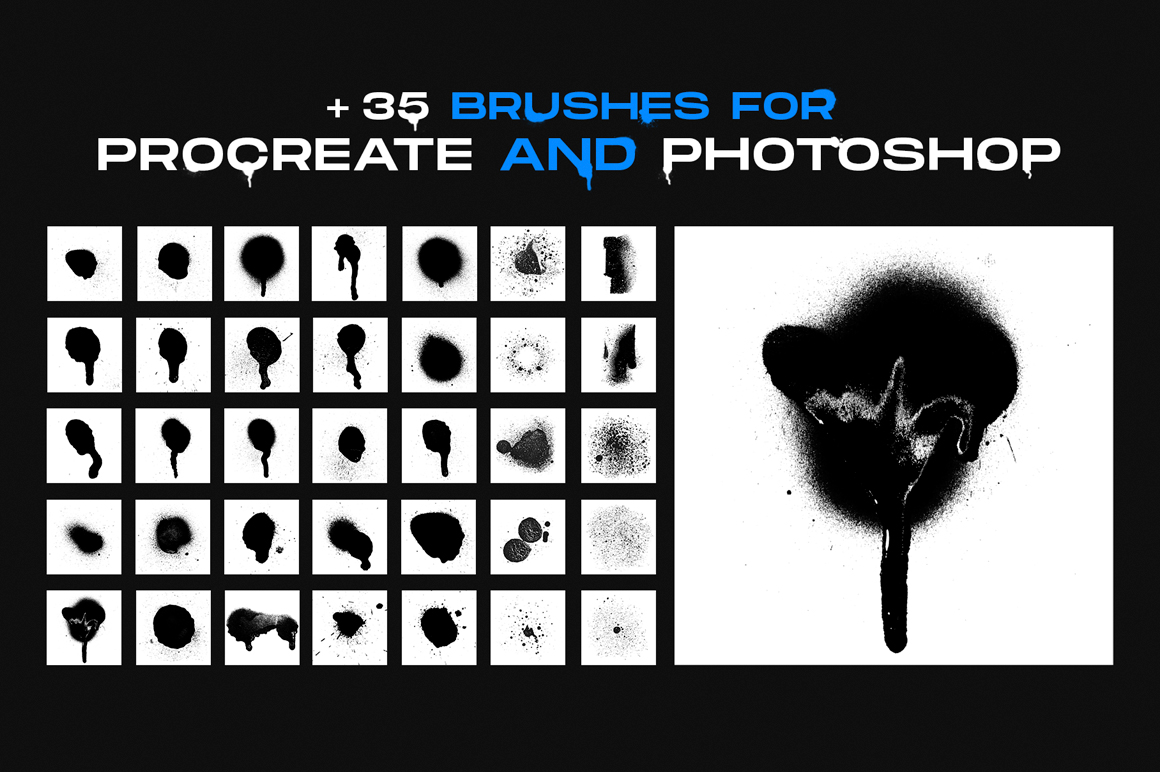 Graffiti Textures and Brushes Pack