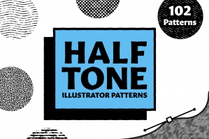 Halftone - Patterns for Illustrator