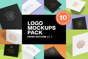 Logo Mockup Pack Paper Edition Vol. 2