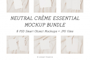 Neutral Crème Essential Invitation Mockup Bundle