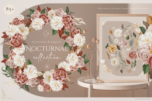 Nocturnal Watercolor Collection