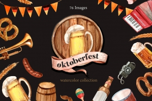 Oktoberfest Watercolor Set