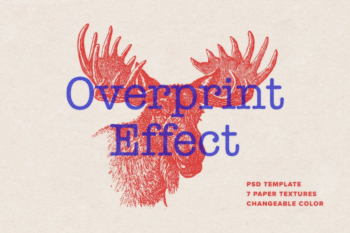 Overprint Photoshop Effect