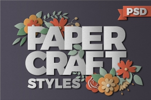 PaperCraft Photoshop Styles