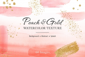 Peach Splash Mix Watercolor