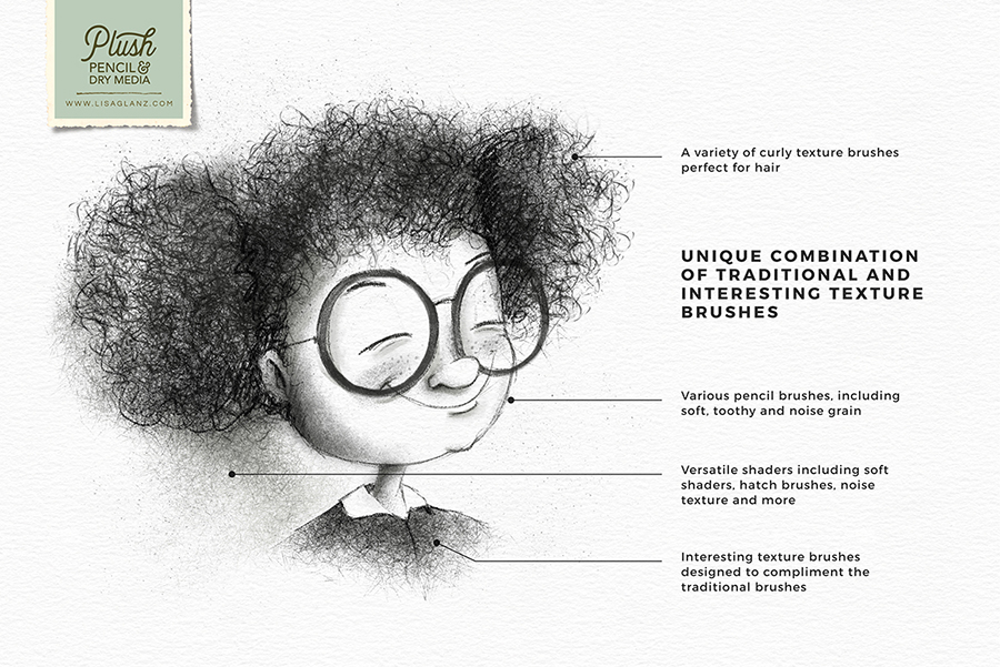 Pencil & Dry Media Brushes For Procreate