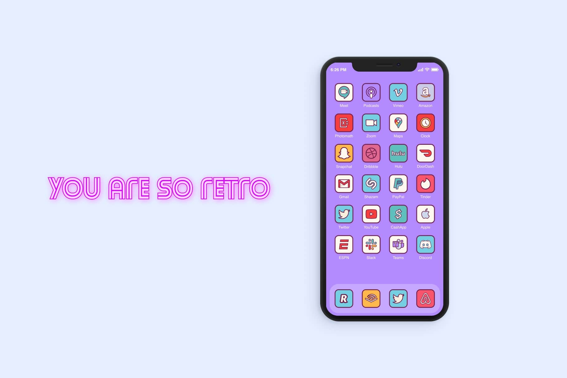 Retro Home Screen Icons iOS 14
