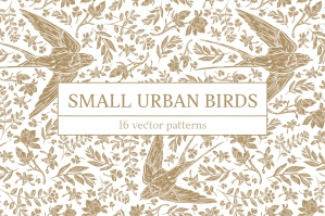 Small Urban Birds Patterns