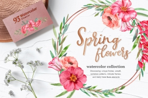Spring Blossom Watercolor Set
