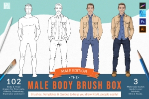 The Male Body Brush Box