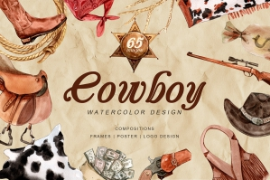 The Story of Cowboy Hero Watercolors Set