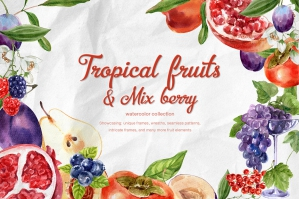 Tropical Fruits & Mix-Berry Set