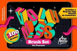 Volumes Brush Set for Procreate