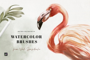 Watercolour Brushes for Procreate