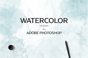 Watercolor Photoshop Brush Set