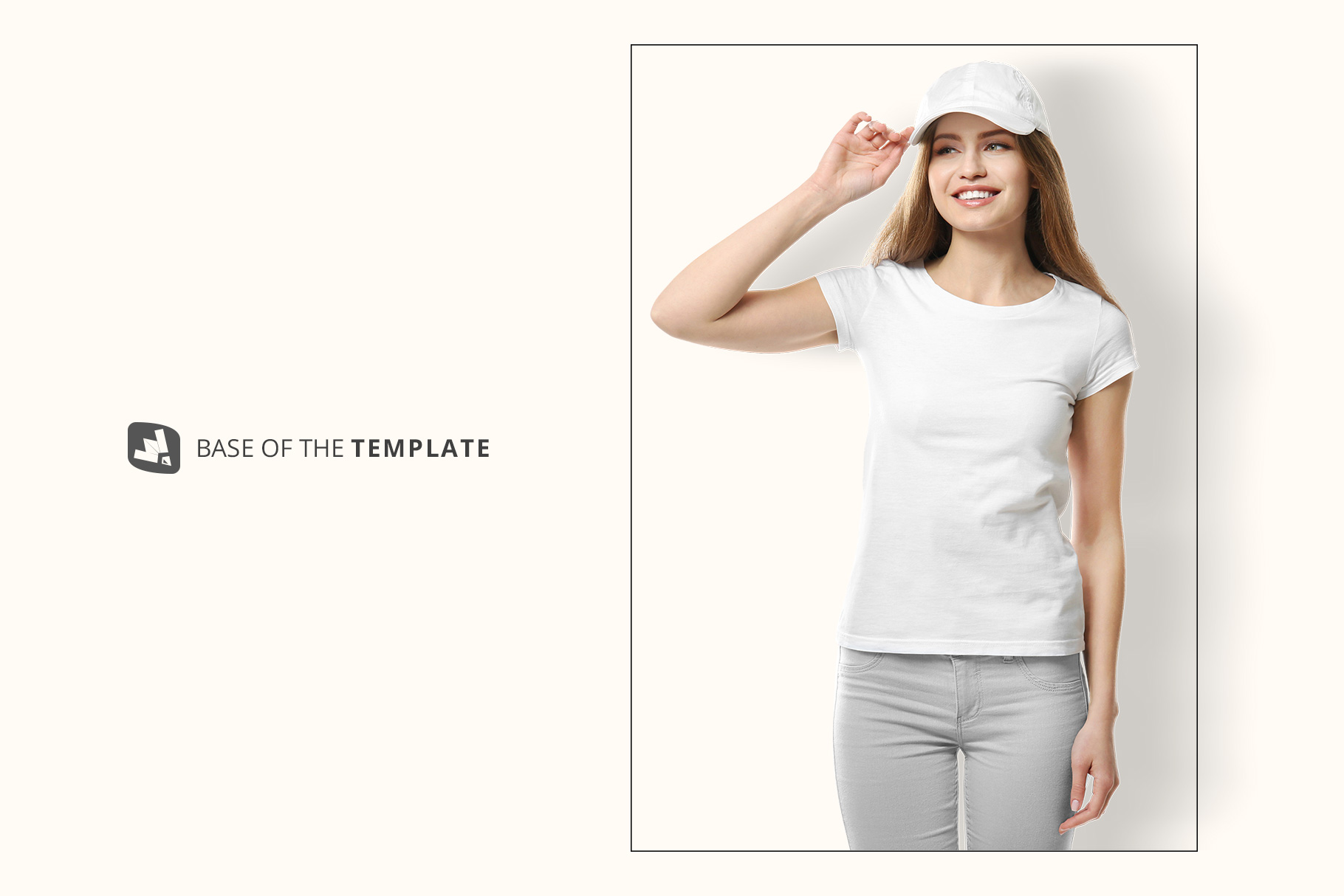 Women's T-Shirt With Cap Mockup