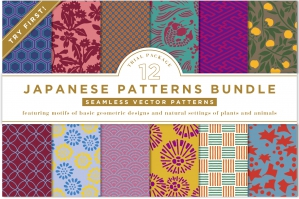 12 Innovative Japanese Patterns Bundle
