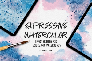 Expressive Watercolor Brushes for Procreate