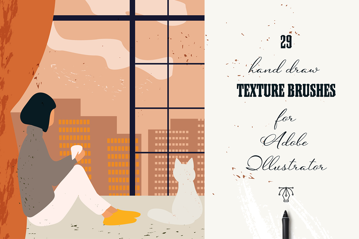 29 Vector Texture Brushes