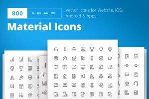 800 Material Design Icons