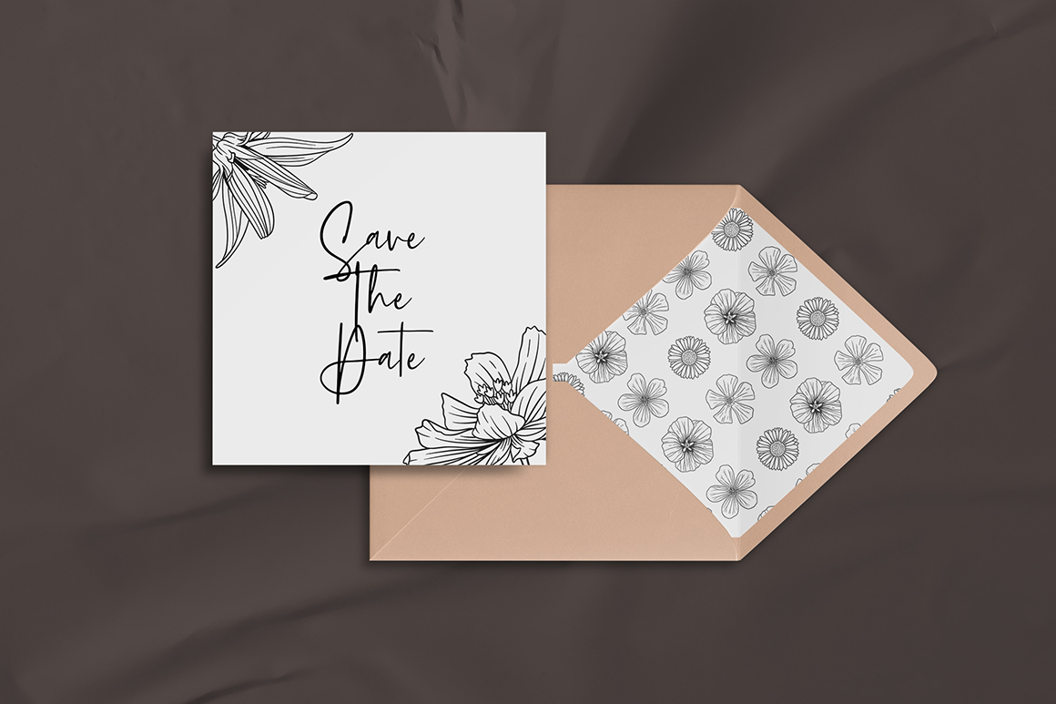 90+ Bloom Line Art & Abstract Elements