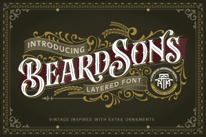 Beardsons - Layered Font
