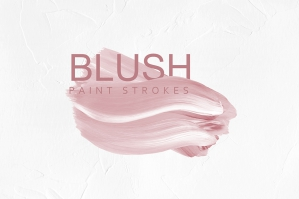 Blush Pink Paint Brush Strokes