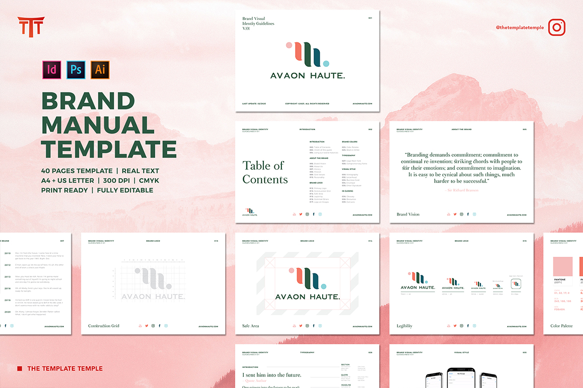 Brand Visual Identity Guidelines Template