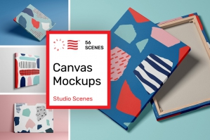 Canvas Mockups - Studio Scenes