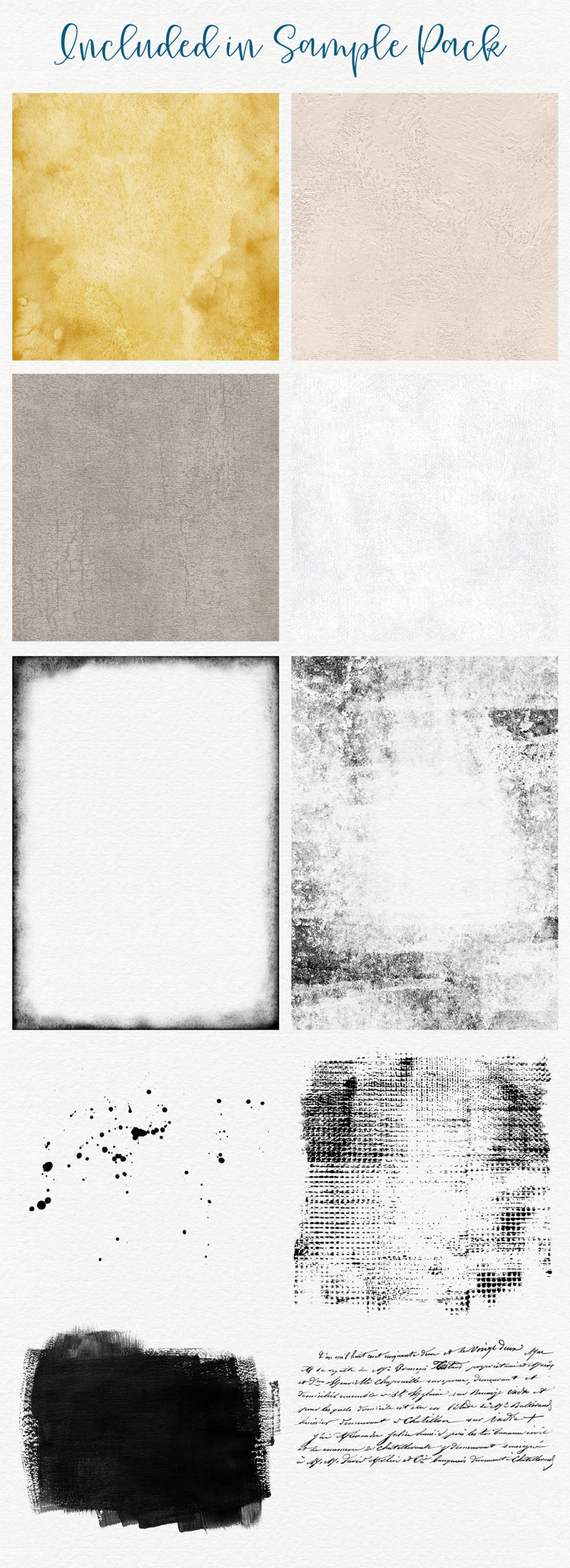 Complete Inspirational Textures & Elements Collection Sample