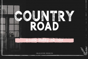 Country Road Rustic Font