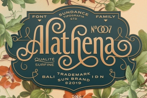 Decorative Alathena Font Display