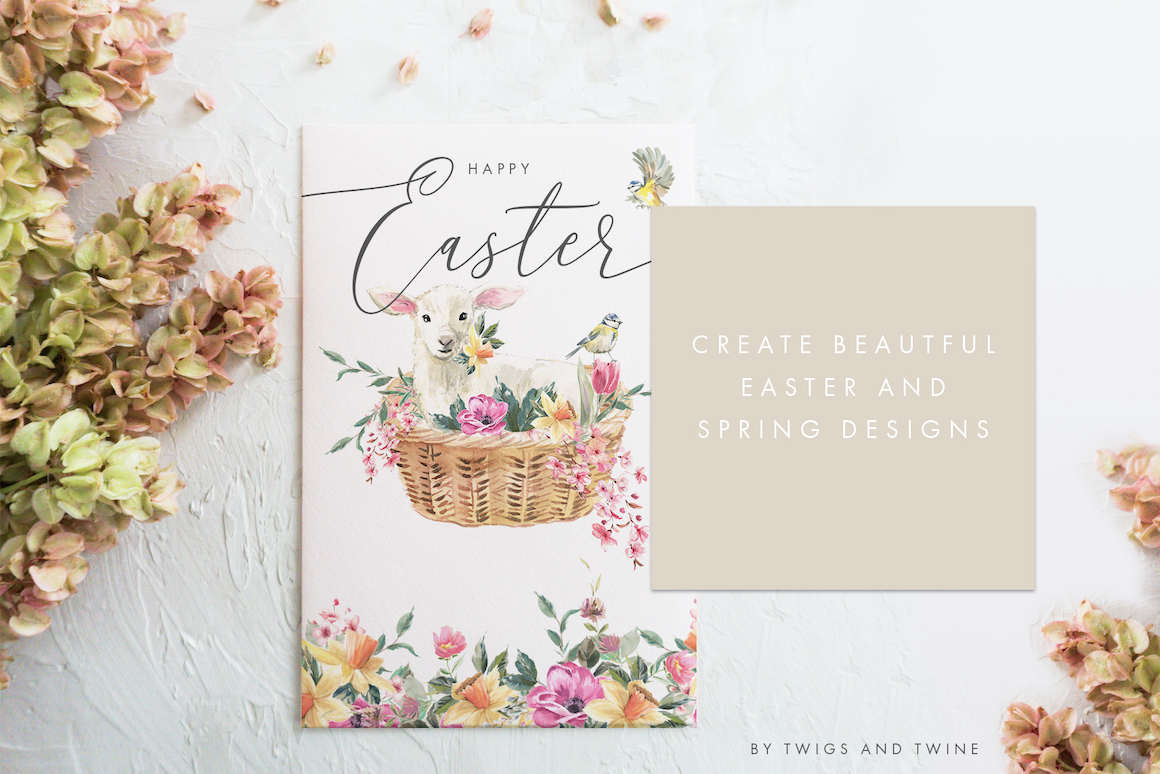 Easter - Handpainted Watercolor Clipart