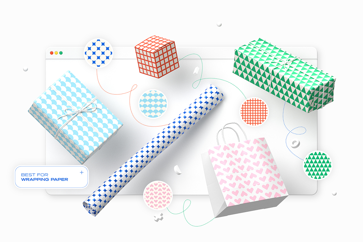 Essential Geometric Seamless Patterns Collection