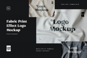Fabric Print Logo Mockup Set