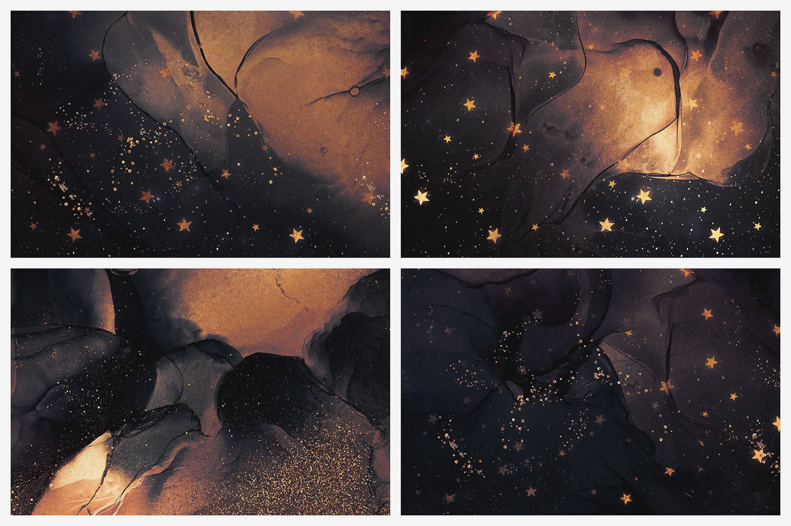 Gold Ink & Galaxy Backgrounds Vol. 2