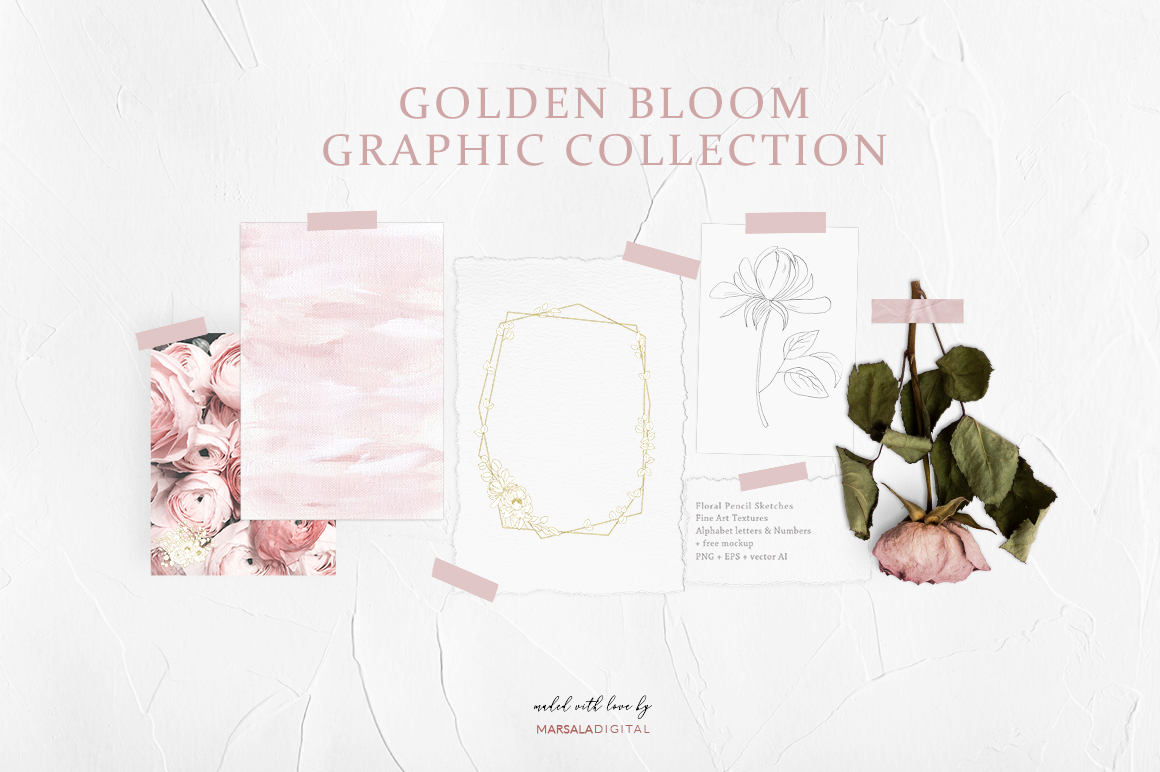 Golden Bloom Graphic Collection